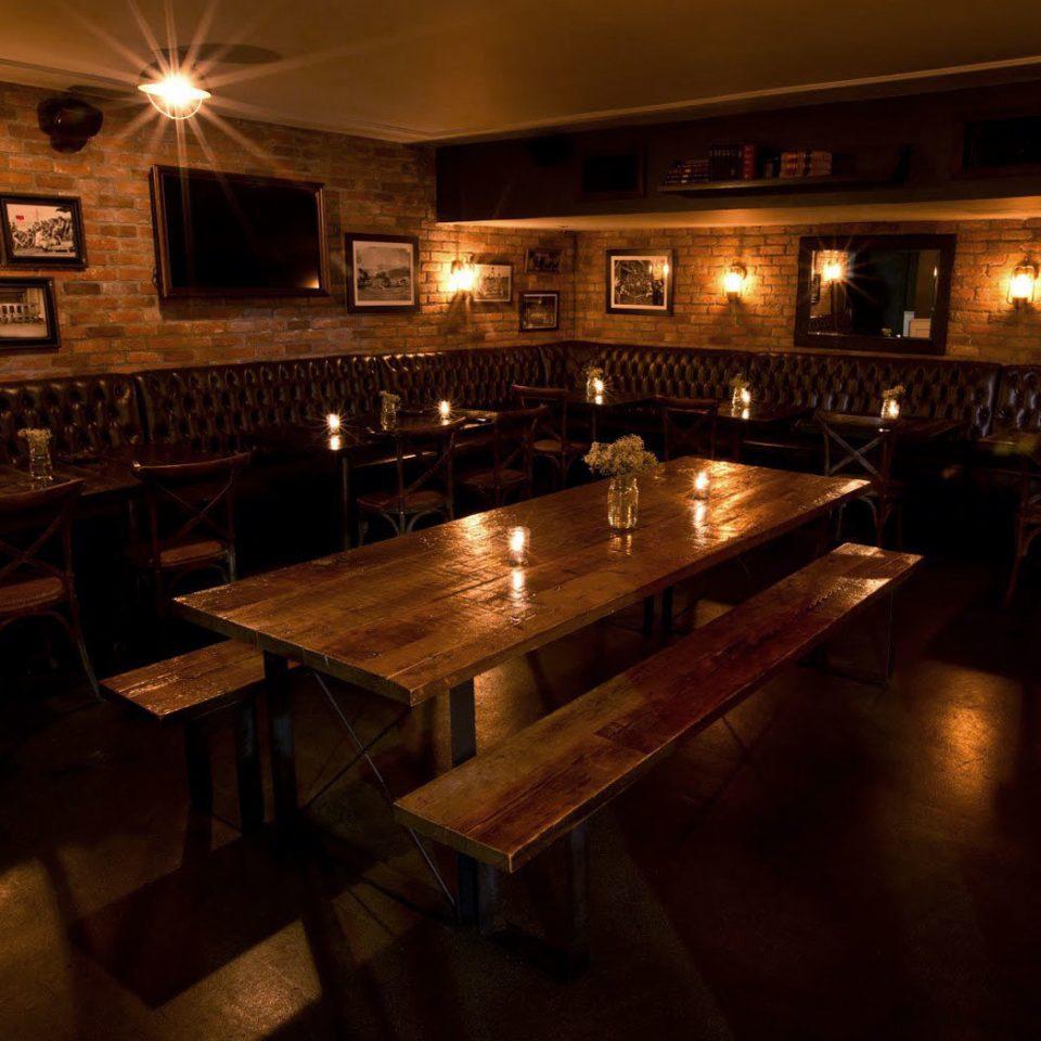 Bar restaurant billiard room night