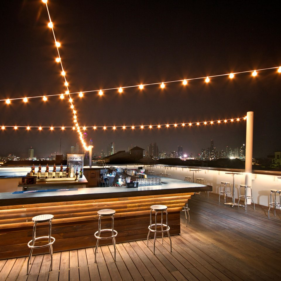 Bar City Drink Eat Rooftop passenger ship night light yacht vehicle Boat lighting luxury yacht ship coming