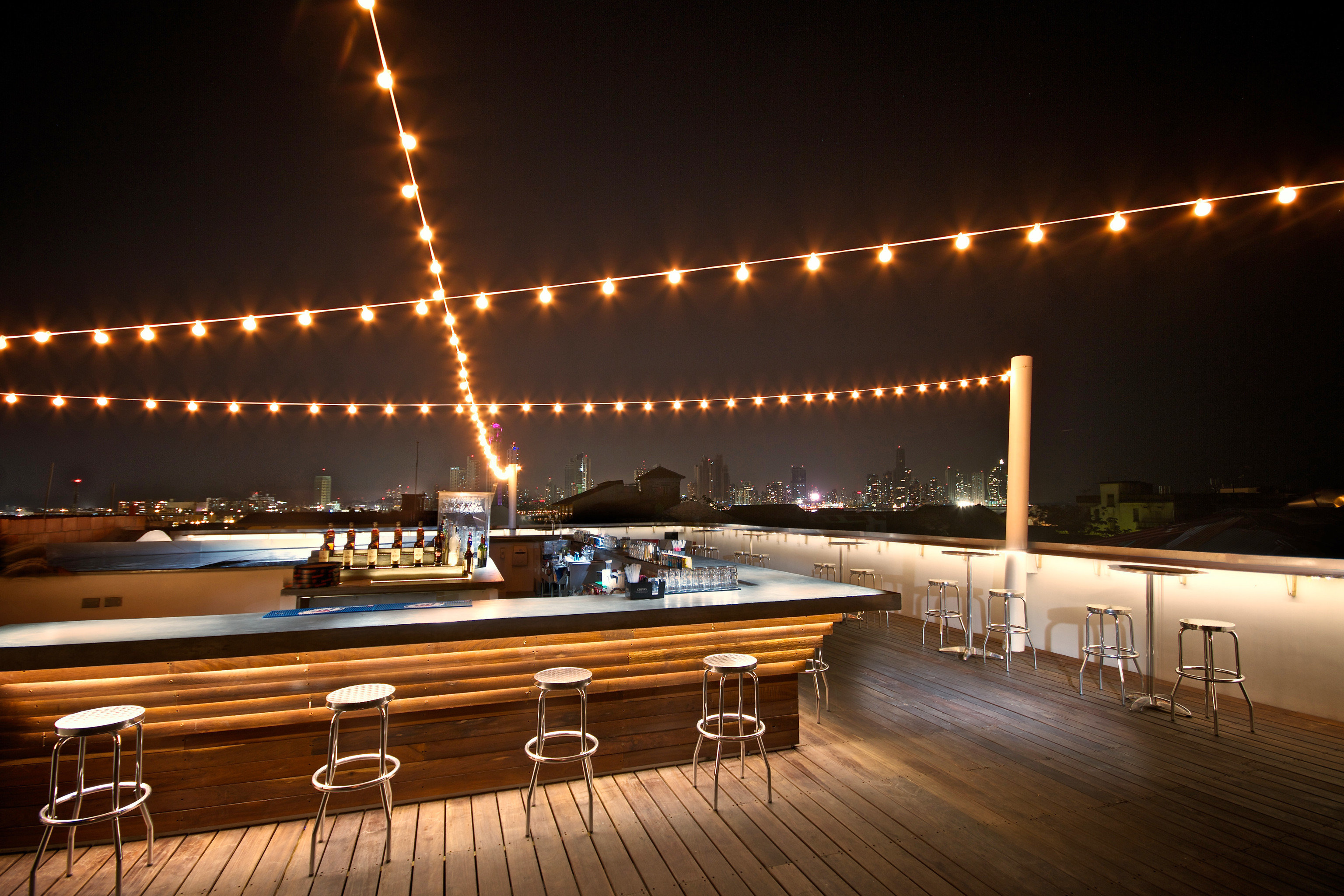 Bar City Drink Eat Rooftop passenger ship night light yacht vehicle Boat lighting luxury yacht ship coming