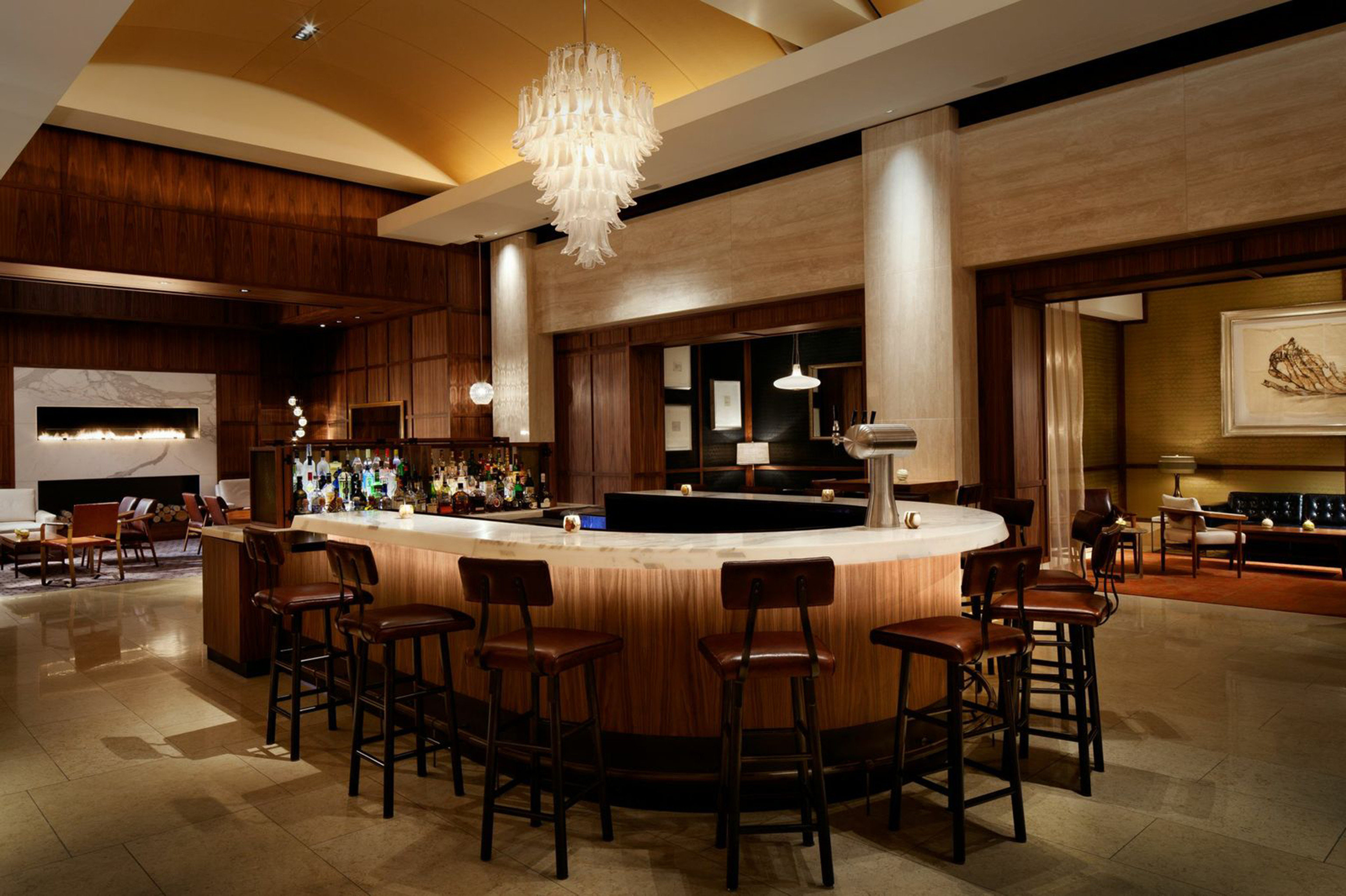 Bar Boston Dining Drink Eat Lounge Luxury Modern Trip Ideas Weekend Getaways Lobby billiard room recreation room restaurant function hall home conference hall café ballroom convention center