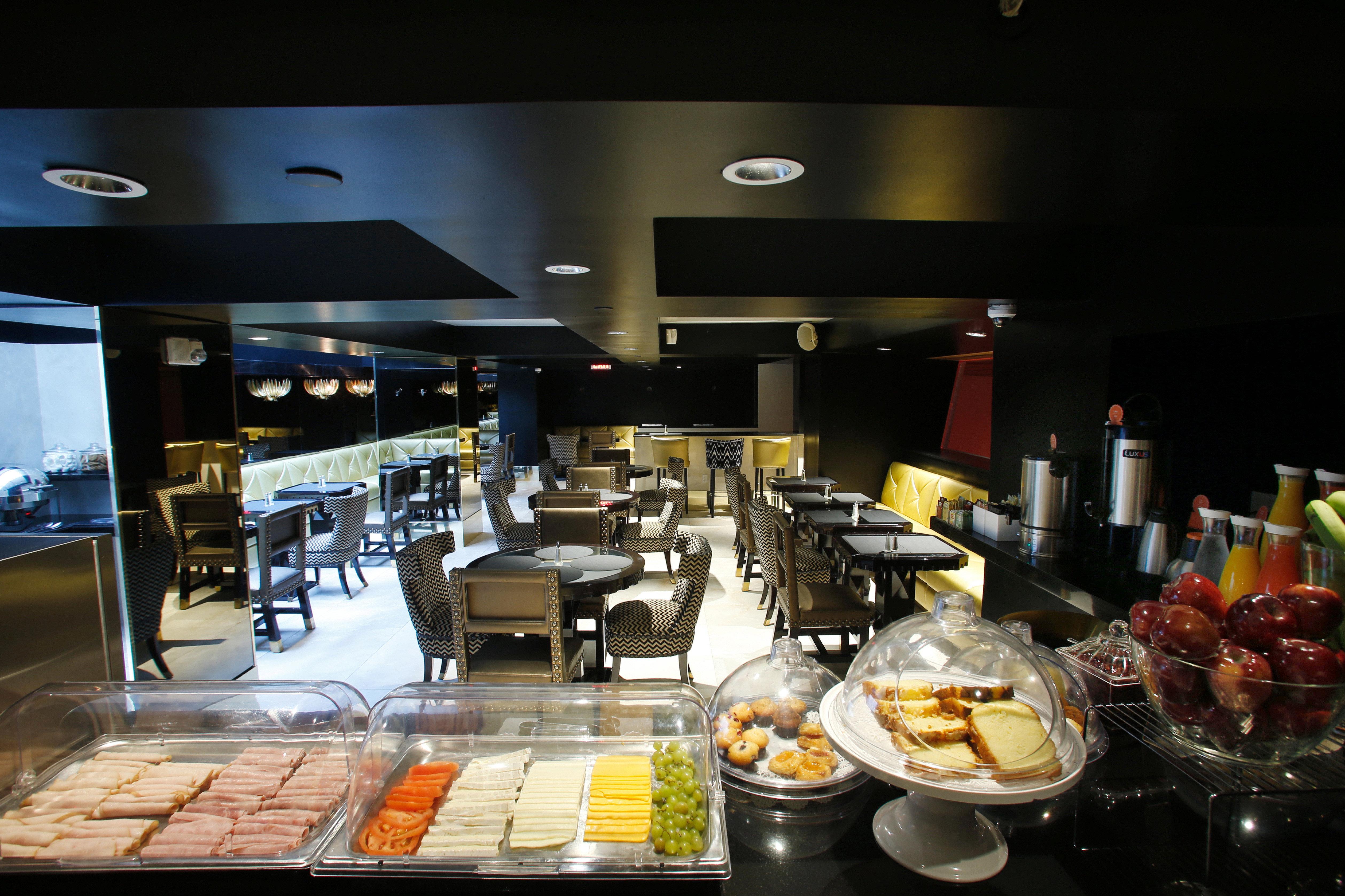 Boutique Budget City Dining Eat Hip Modern restaurant buffet food cuisine counter Bar dining table