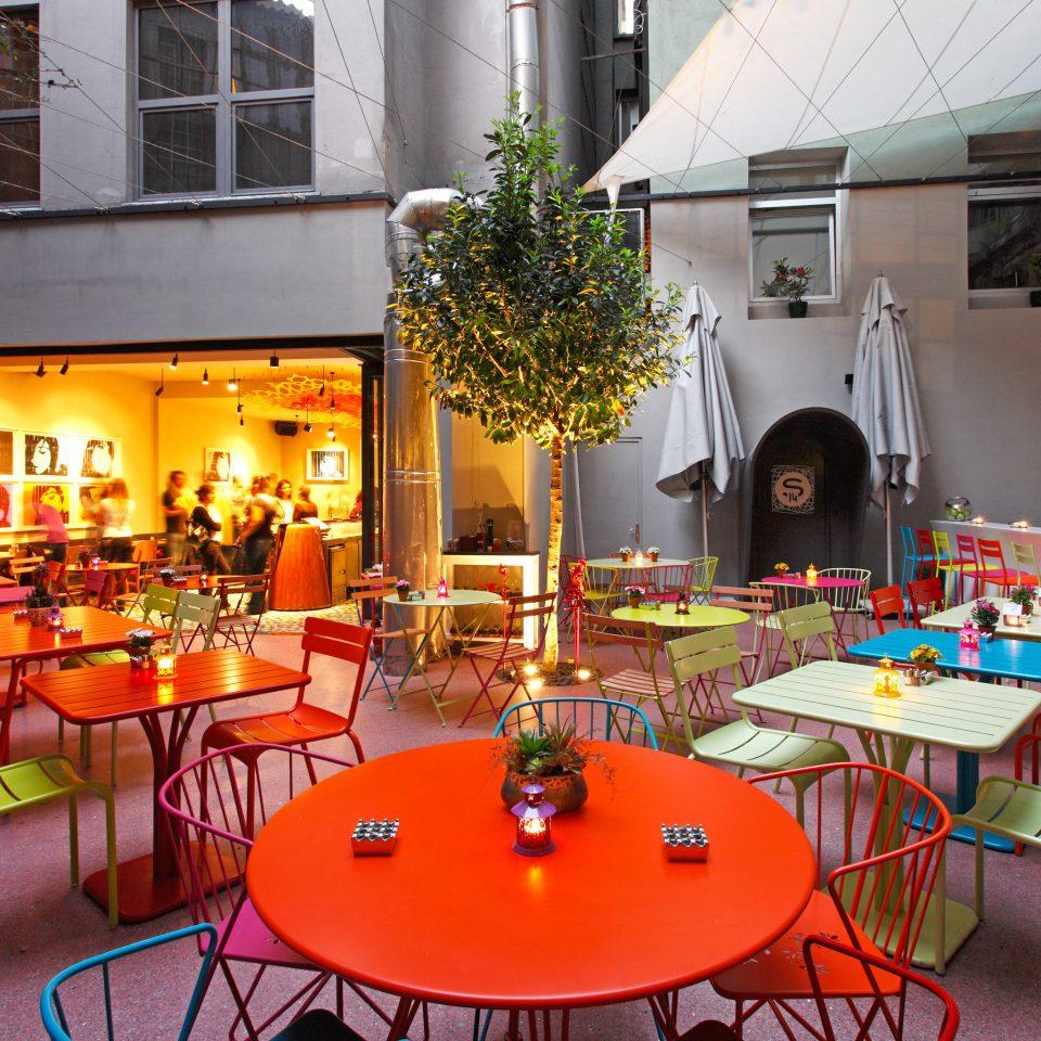 Bar Boutique Budget City Dining Hip chair restaurant red cuisine buffet
