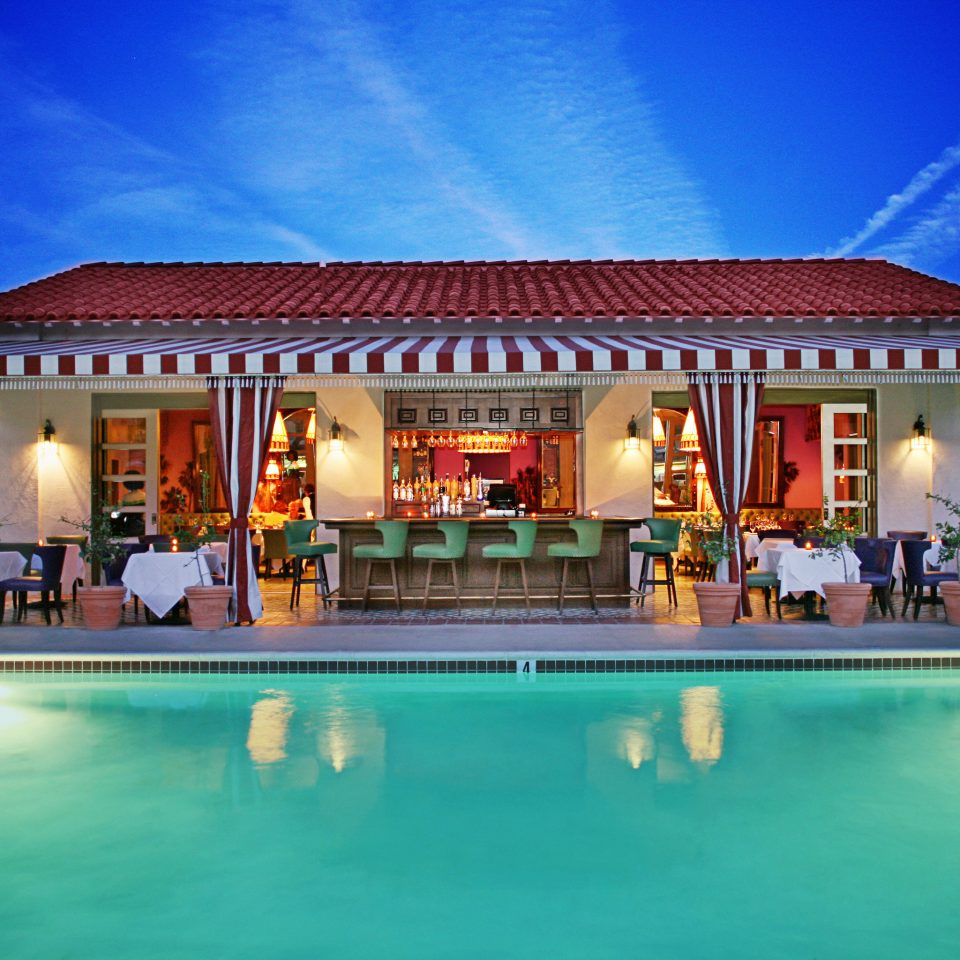 Bar Boutique Budget Exterior Pool building sky Resort swimming pool leisure property Villa resort town hacienda mansion home palace blue