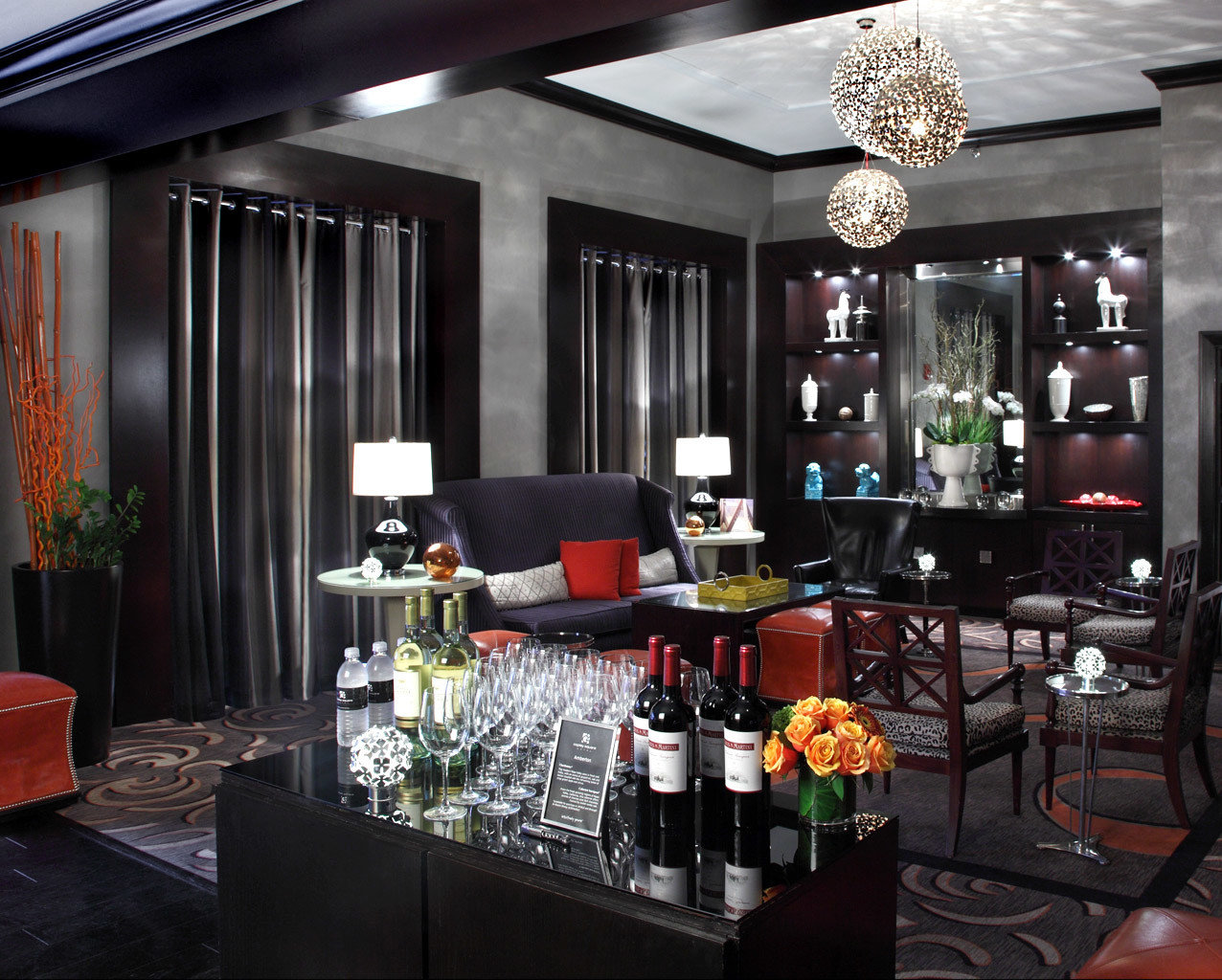 Boutique City Drink Lobby Lounge Modern Dining Bar restaurant floristry living room cluttered dining table