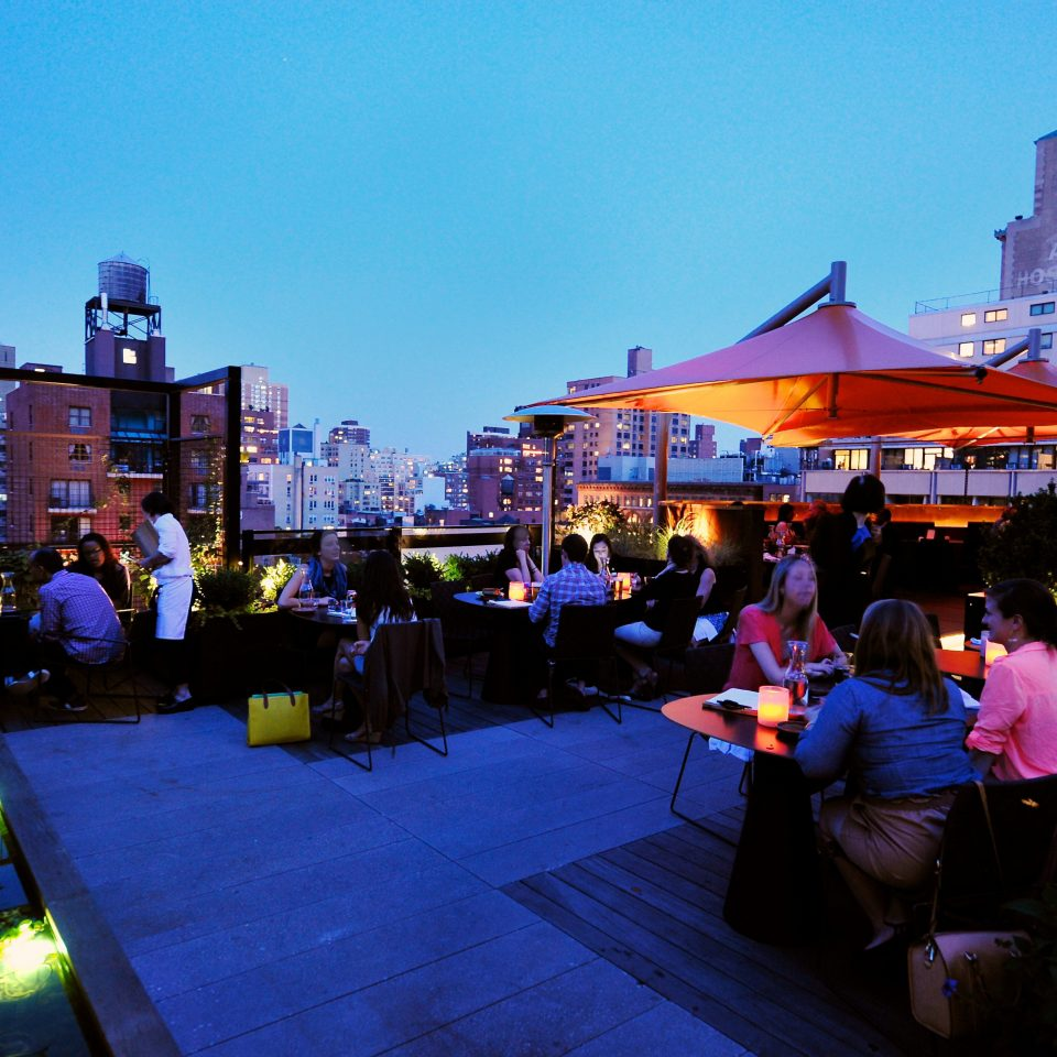 Bar Boutique City Drink Modern Nightlife Rooftop sky crowd night evening
