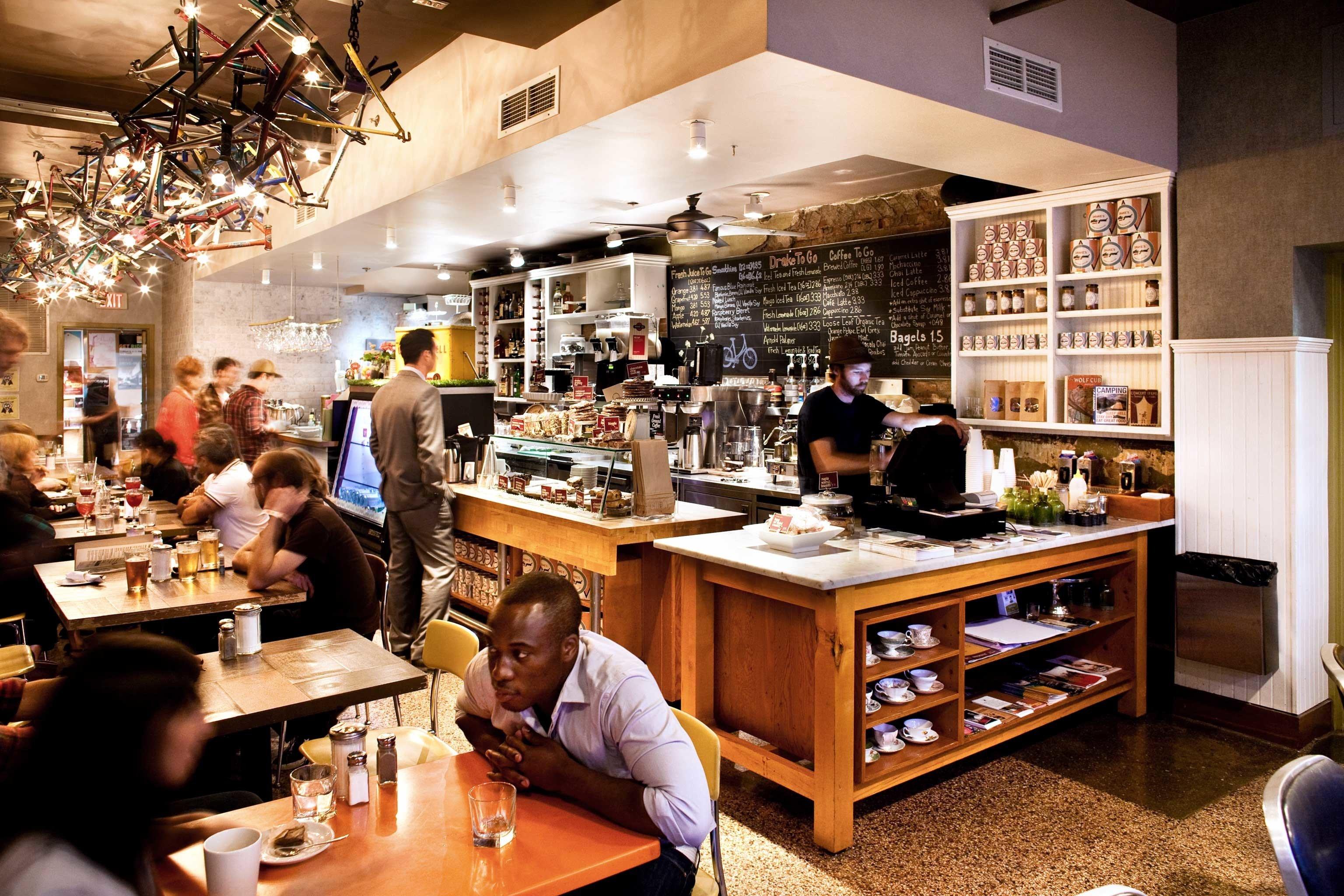 Boutique City Drink Eat Hip Modern restaurant Bar cluttered