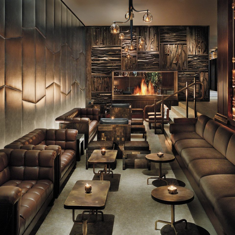 Bar Boutique City Drink Fireplace Lounge Luxury sofa Lobby living room leather basement