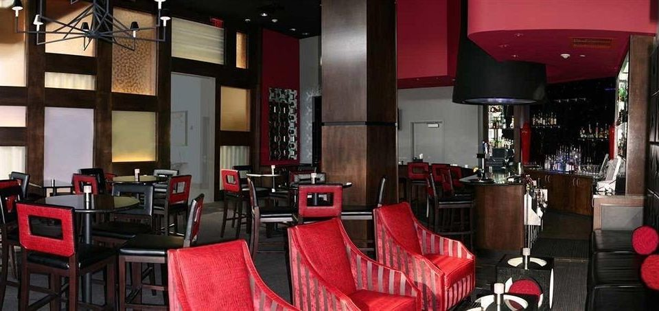 chair red Dining Bar Boutique restaurant leather