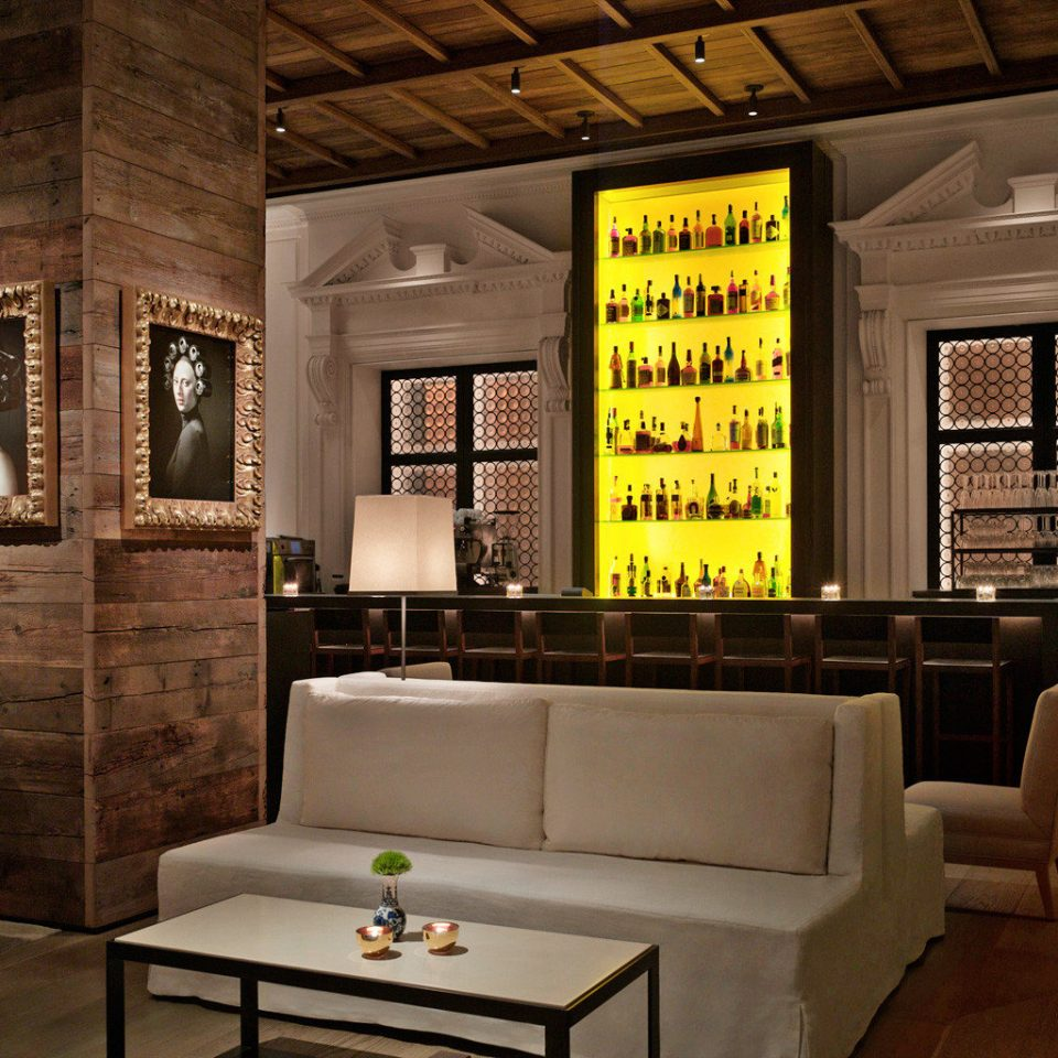 Bar Boutique Dining Drink Eat Food + Drink Historic Hotels Lounge Trip Ideas living room Lobby home lighting