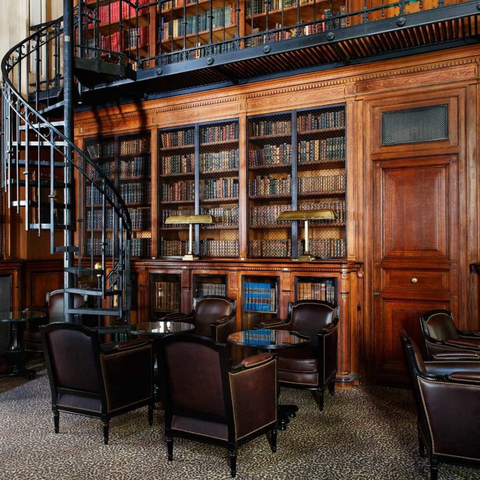 Bar Boutique Hotels City Drink Elegant France Historic Hotels Lounge Paris Romantic chair library building scene shelf public library bookselling home