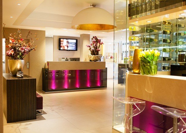 Boutique retail Lobby floristry counter Bar restaurant shoe store