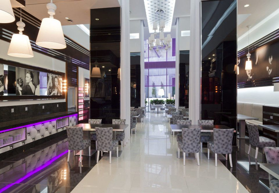 Lobby Boutique restaurant shopping mall retail food court Bar purple