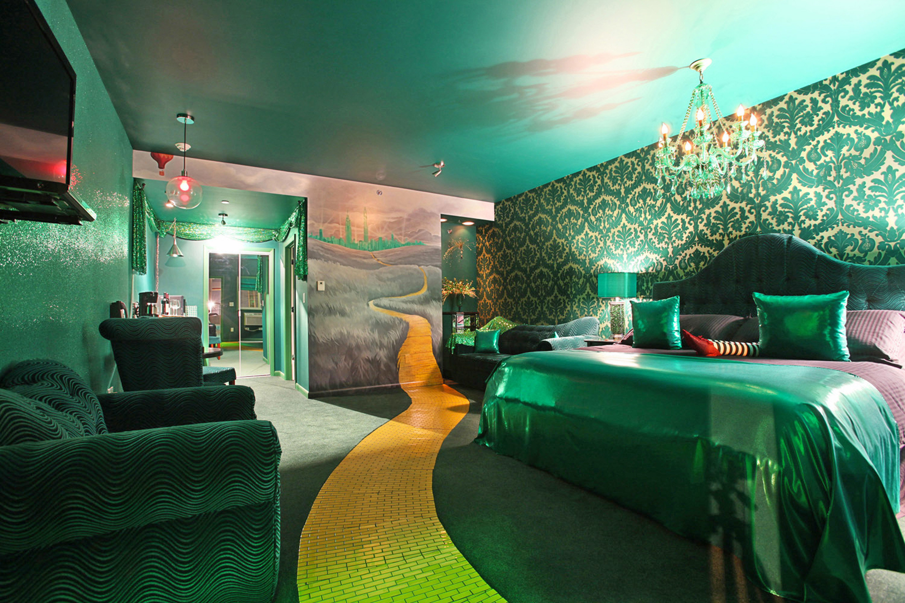 green sofa color restaurant Bar screenshot nightclub colorful bright colored