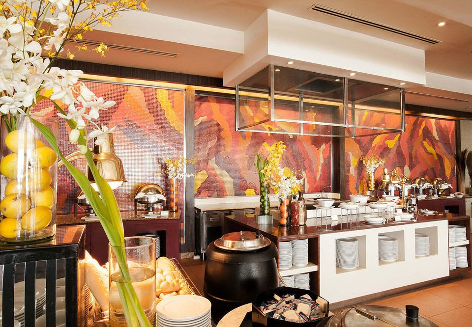 buffet floristry brunch restaurant counter food Bar cluttered