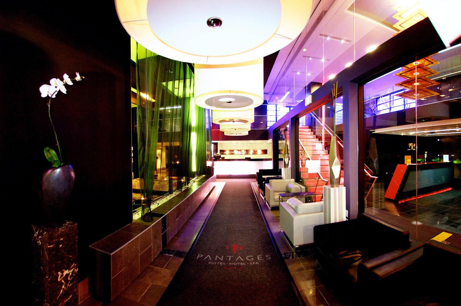 Budget City Lobby Modern nightclub Bar restaurant