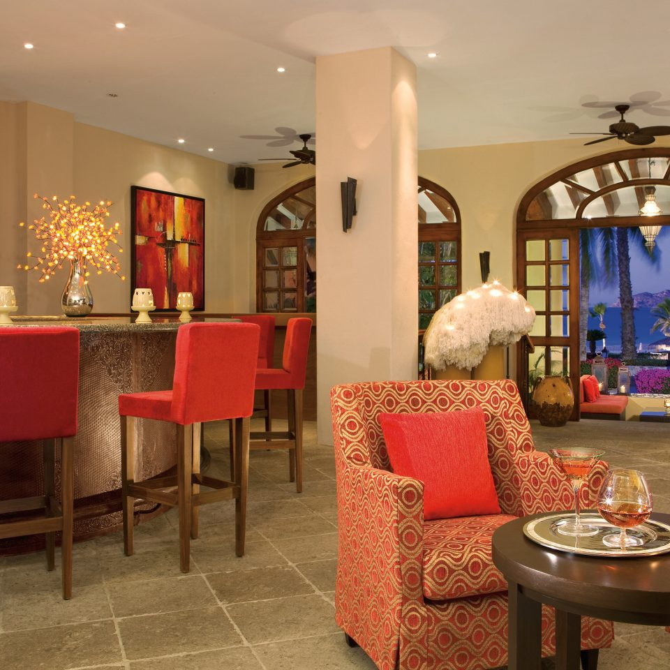 Bar Budget Dining Drink Eat Elegant Hotels Luxury Modern red chair property Lobby restaurant living room