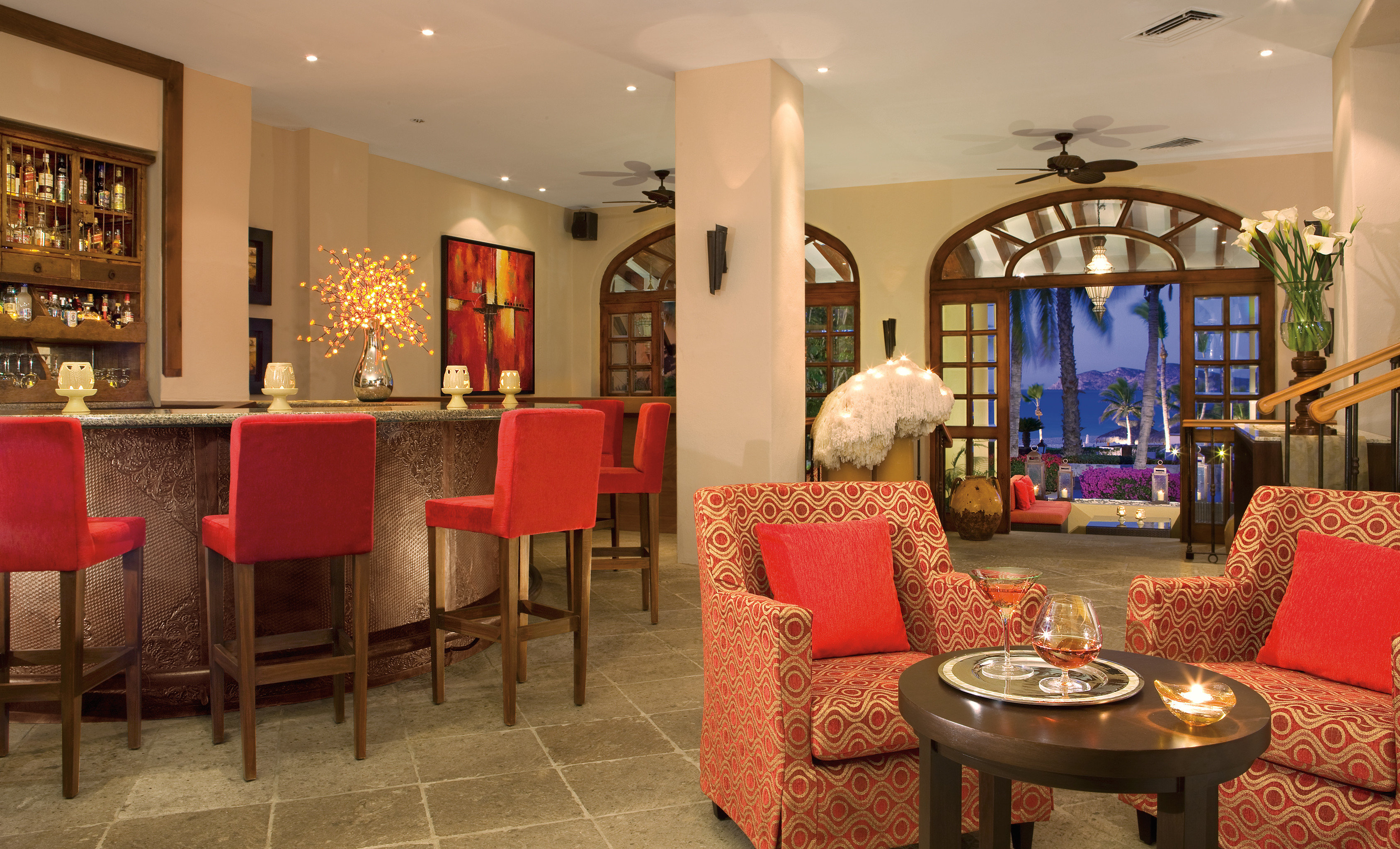 Bar Budget Dining Drink Eat Elegant Hotels Luxury Modern red chair property Lobby restaurant living room