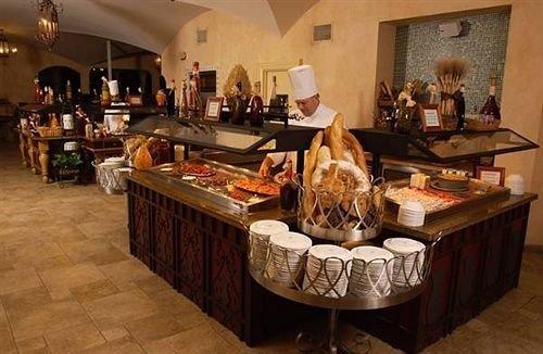 restaurant food buffet Bar cluttered