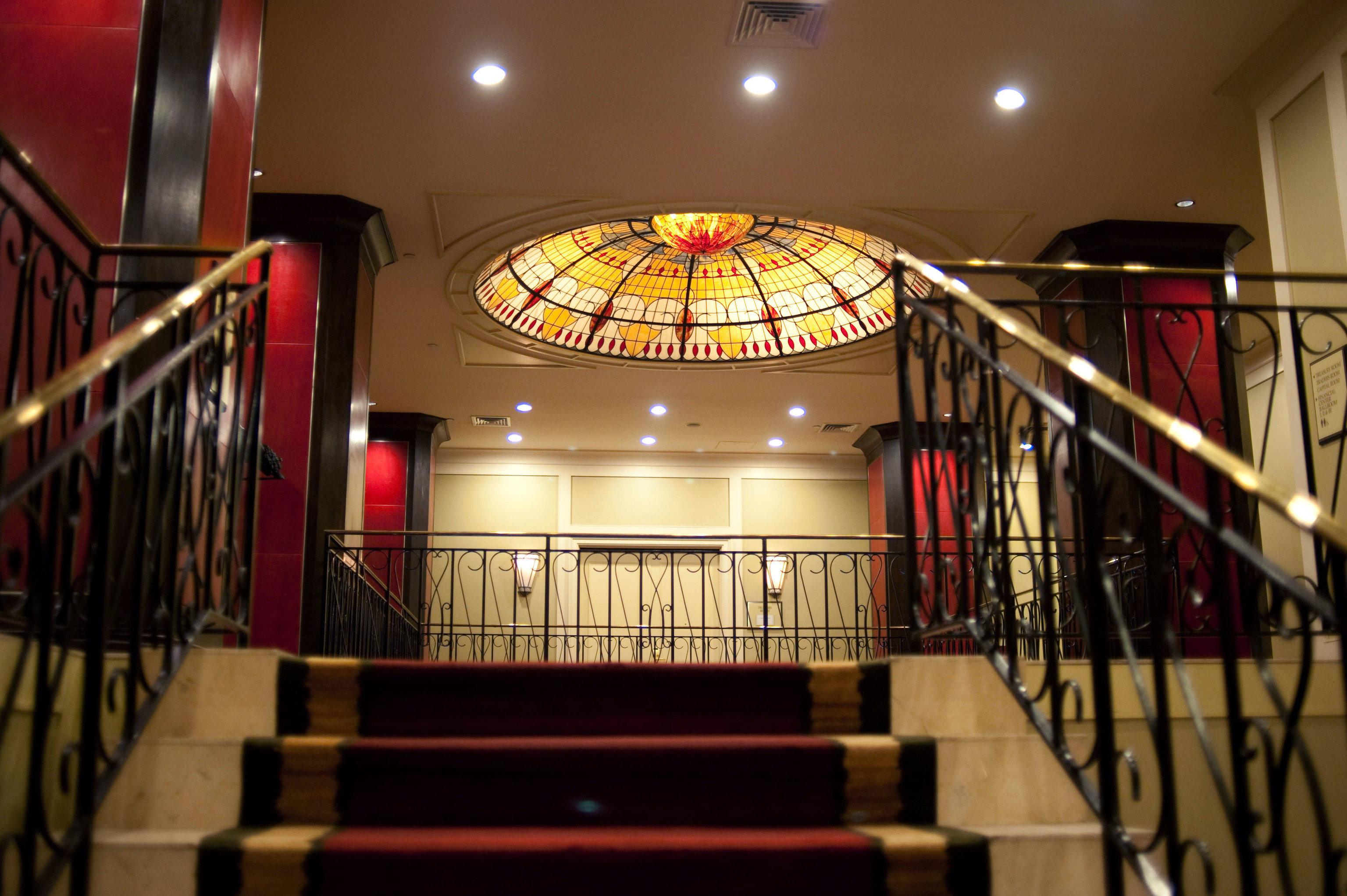 chair building restaurant Bar tourist attraction metal step