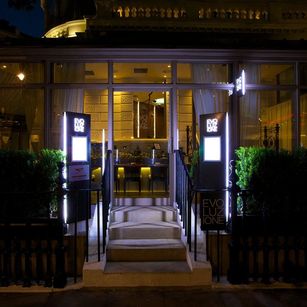 building night restaurant evening lighting Bar store
