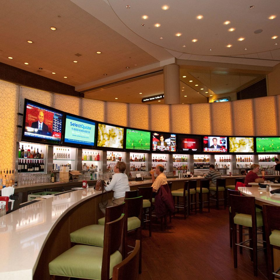 building food court restaurant function hall Bar