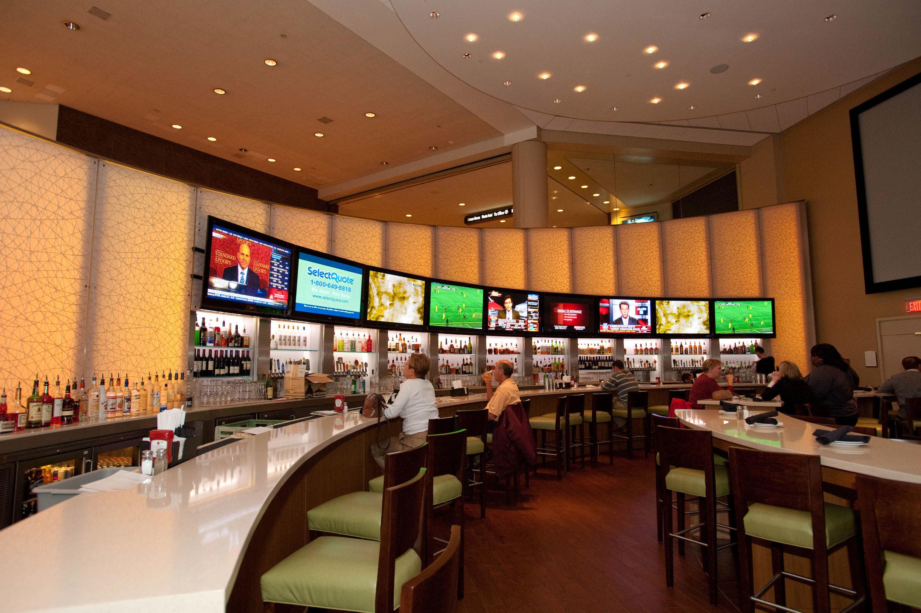 building food court restaurant function hall Bar