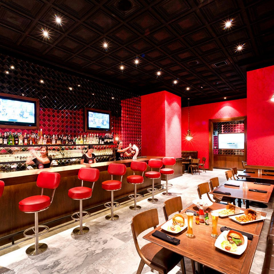 Bar Buildings Business City Dining Drink Eat Entertainment Nightlife Scenic views red restaurant function hall recreation room nightclub
