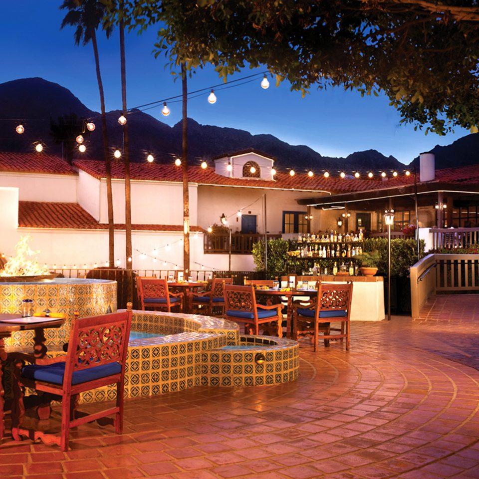 Buildings Elegant Exterior Luxury chair Resort restaurant Bar hacienda palace night