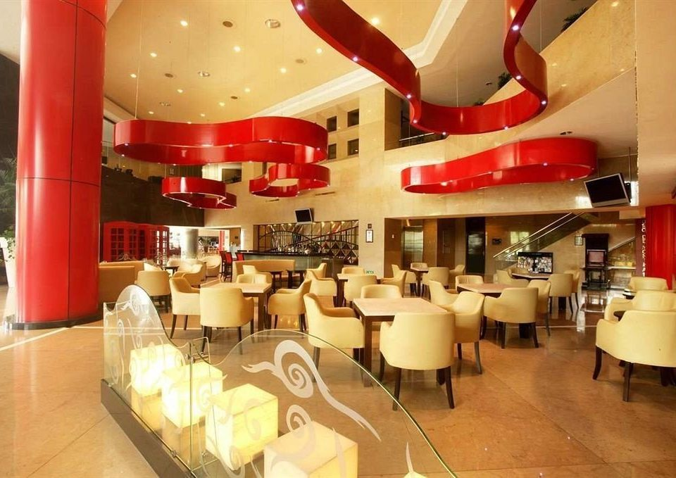 Business Dining Modern restaurant red function hall café cafeteria buffet Bar food fast food restaurant
