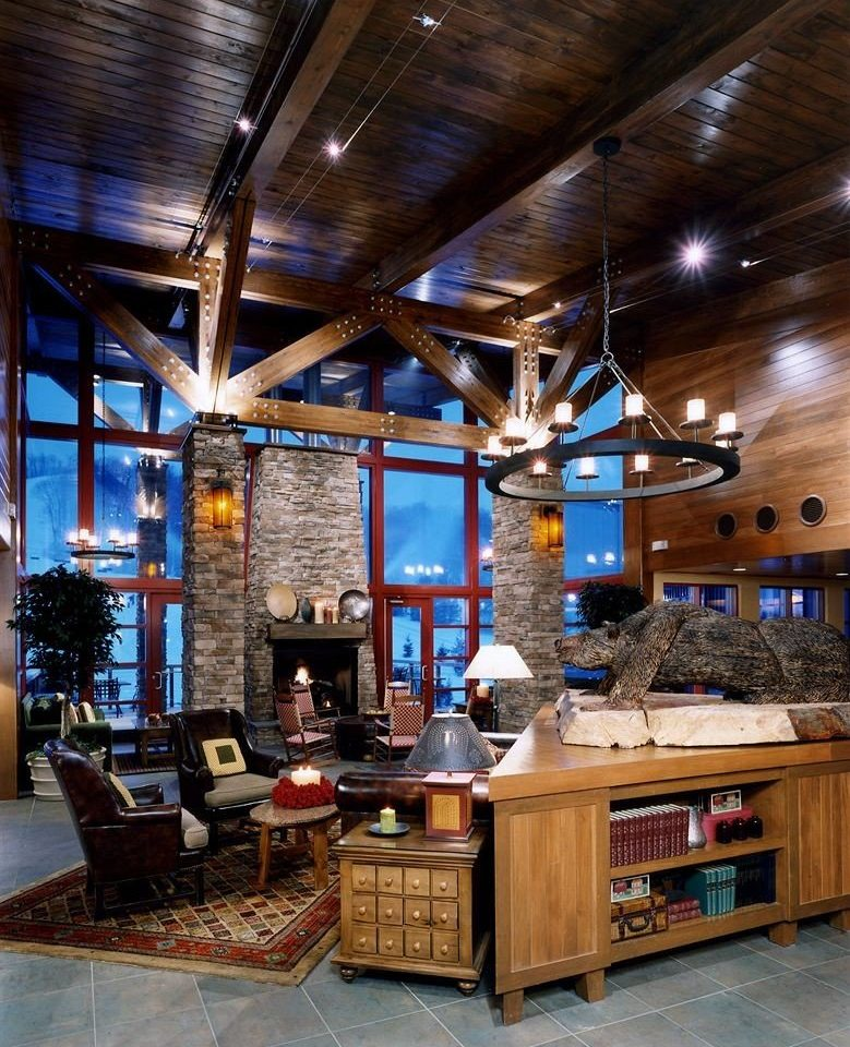 Cabin Dining Drink Eat Lodge building home lighting Bar