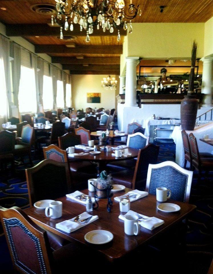 restaurant function hall Bar café set cluttered dining table