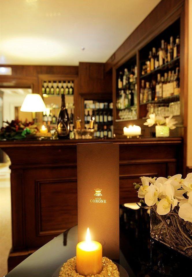 candle lit lighting home living room Bar