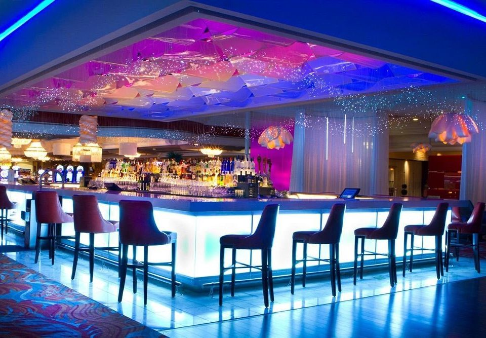 Bar Casino Resort scene function hall nightclub quinceañera Party convention center ballroom music venue wedding reception banquet colorful lined colored
