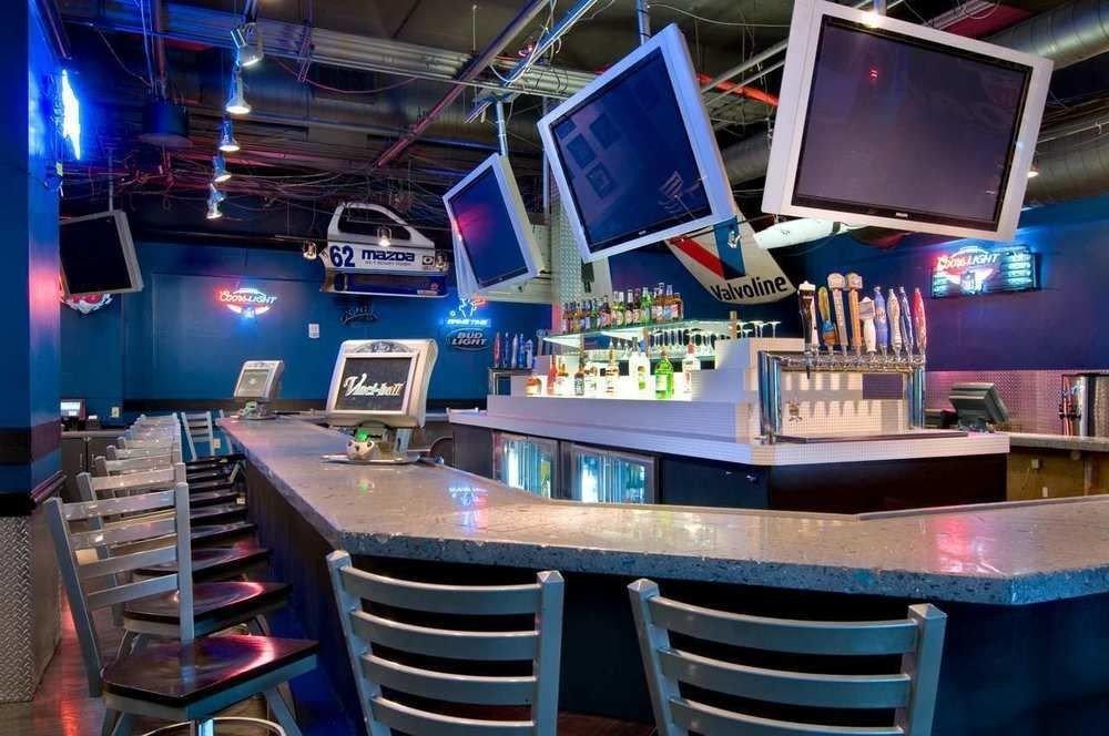 chair nightclub Bar recreation room set cluttered