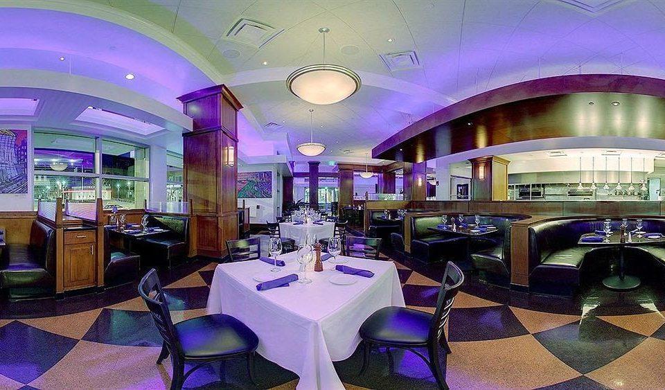 City Classic Dining restaurant function hall purple Resort Lobby Bar convention center nightclub set