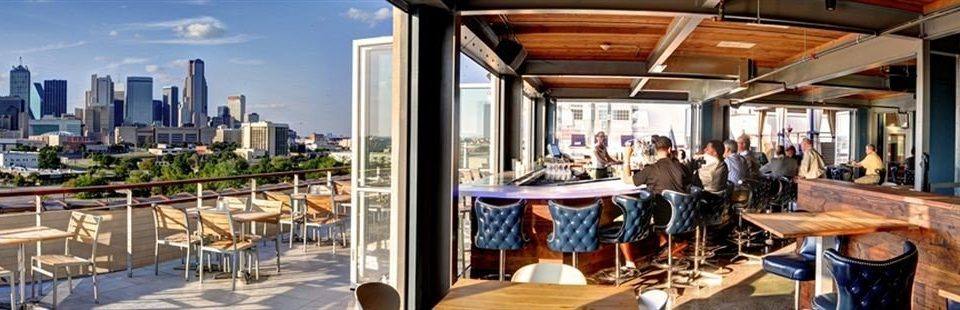 Bar City Deck Hip plaza restaurant dining table