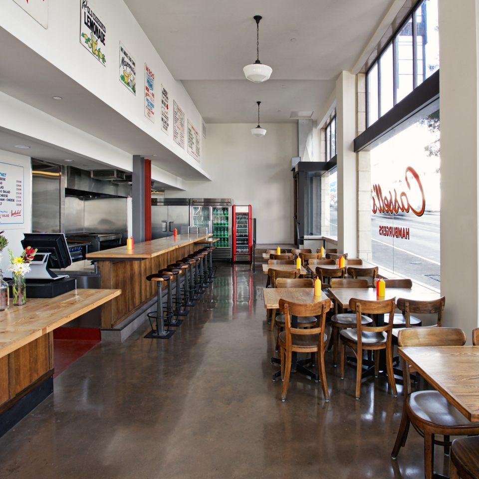 City Dining Drink Eat Hip Modern restaurant cafeteria wooden café Bar