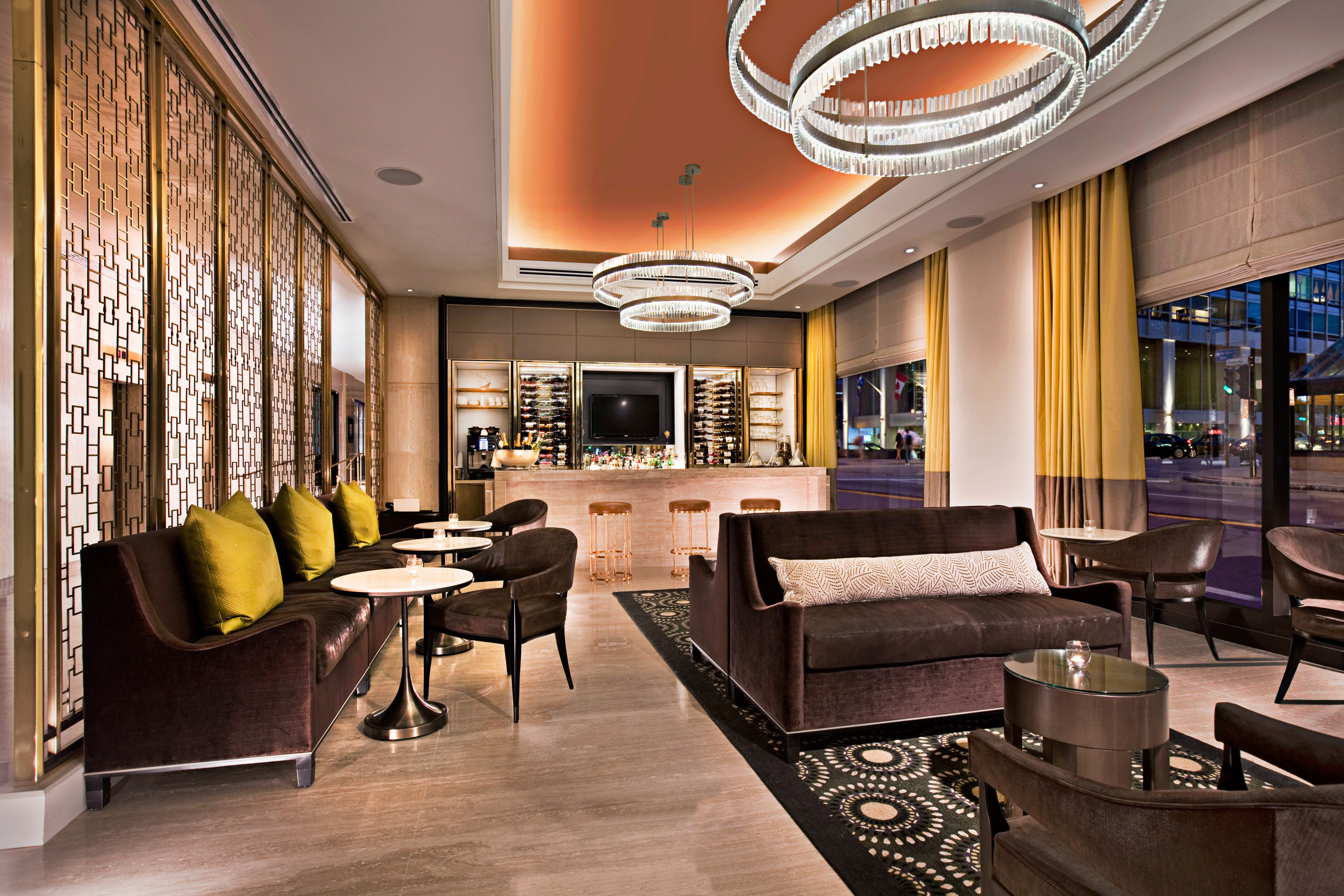Bar City Dining Drink Eat Modern Nightlife Lobby property living room home condominium recreation room mansion Suite