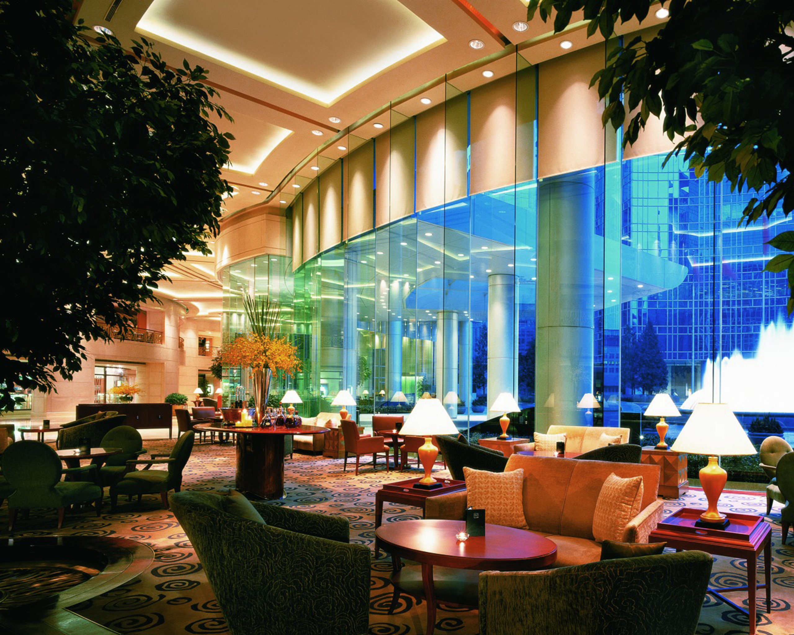 Bar City Dining Drink Eat Scenic views tree Lobby restaurant convention center plaza Resort
