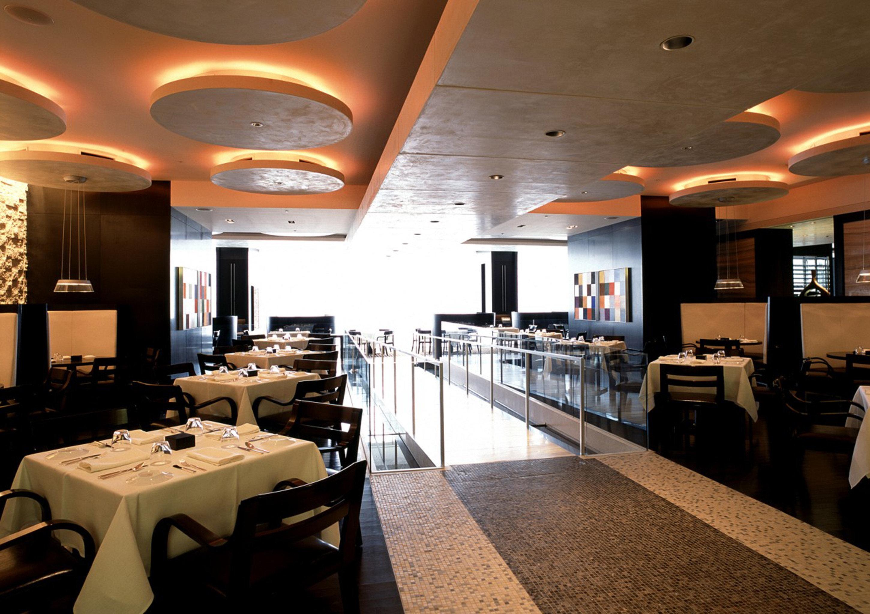 City Dining Drink Eat Modern restaurant function hall lighting café Lobby Bar conference hall Island
