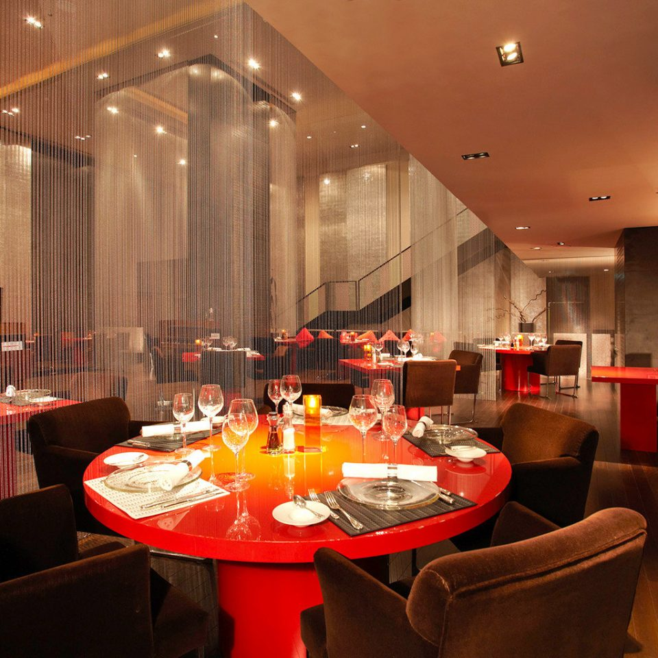 Bar City Dining Drink Eat Modern Shop restaurant red function hall