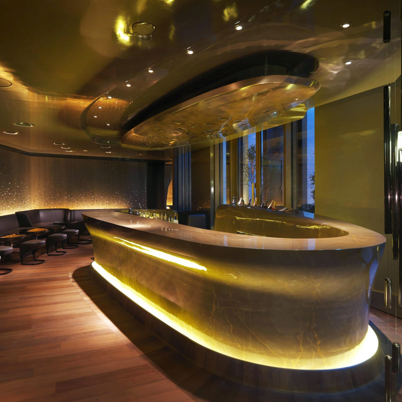 Bar City Drink Eat Hip Luxury Modern Nightlife Lobby lighting restaurant auditorium