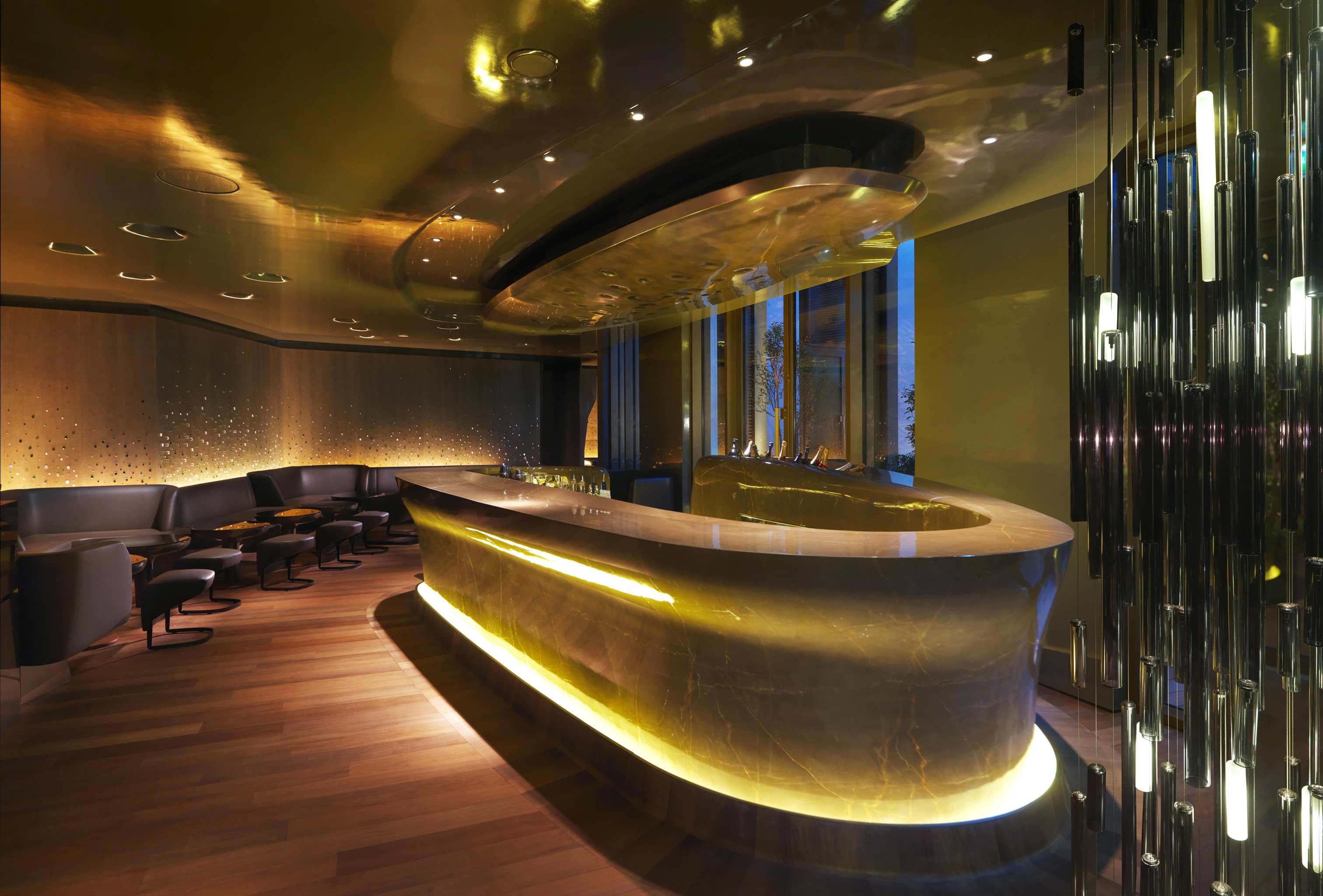 Bar City Drink Eat Hip Luxury Modern Nightlife Lobby lighting restaurant auditorium