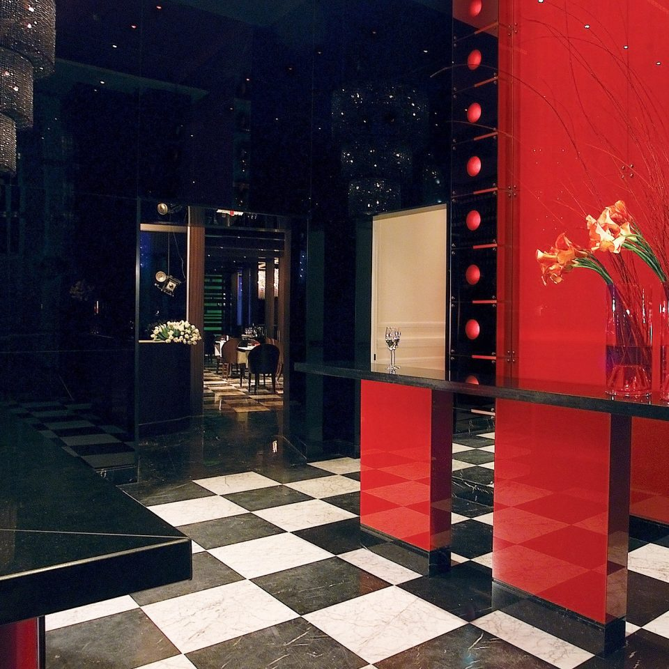 Bar City Drink Elegant Luxury color red display window black art restaurant Lobby tourist attraction tiled