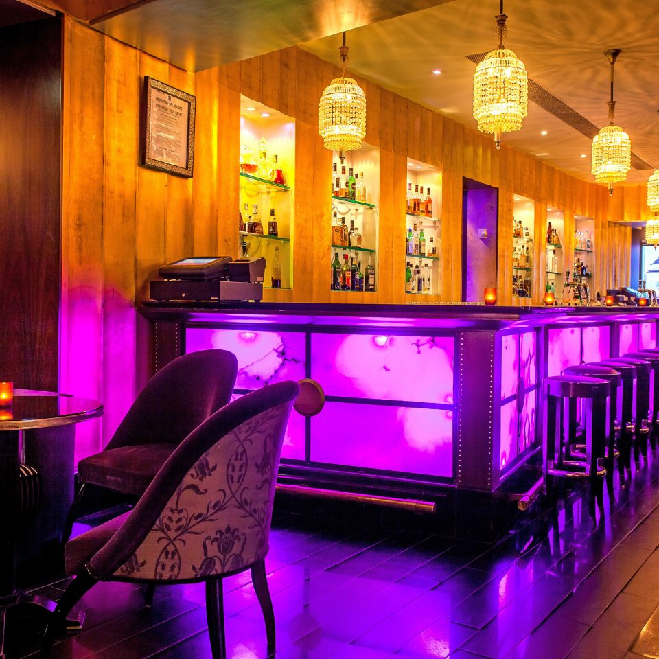 Bar City Drink Hip Nightlife nightclub restaurant night Resort function hall lit