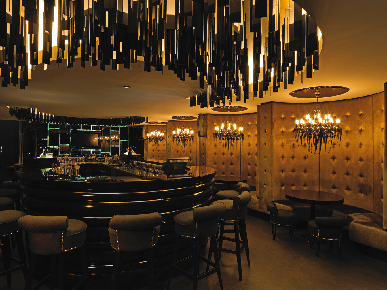 Bar City Drink Hip Luxury Modern restaurant lighting lit function hall lined