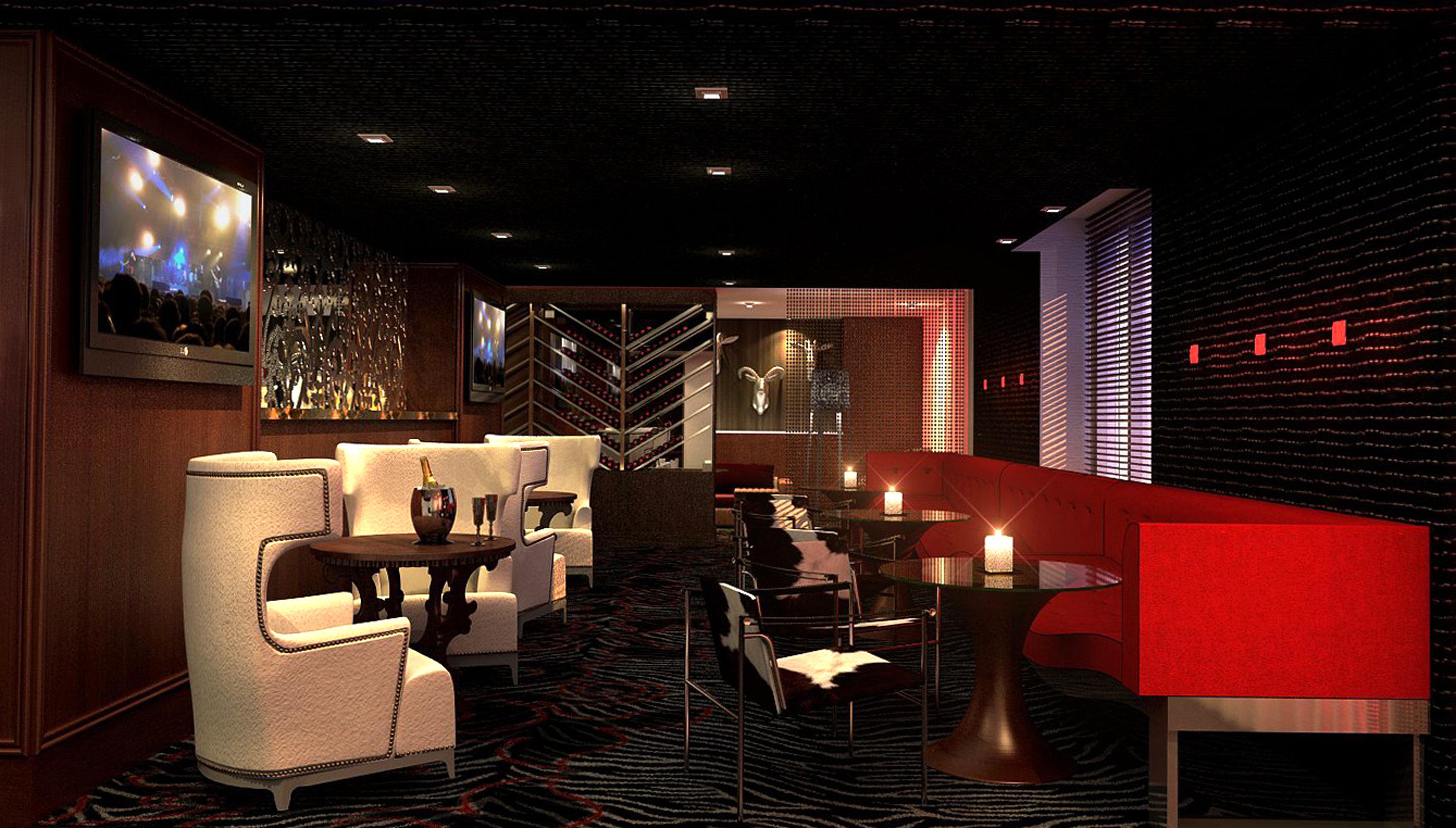 Bar City Drink Modern Lobby lighting living room theatre night
