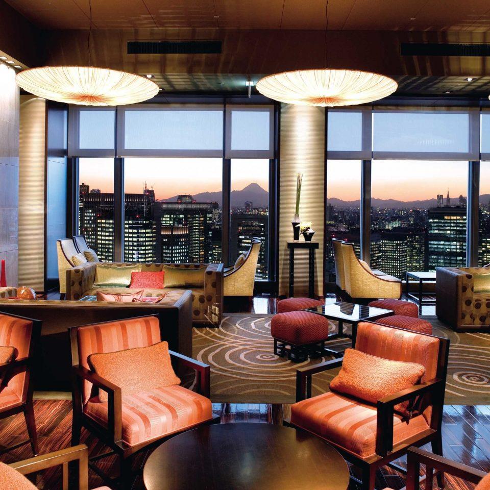 City Elegant Hotels Japan Lobby Lounge Luxury Modern Tokyo chair restaurant Resort café Bar living room leather