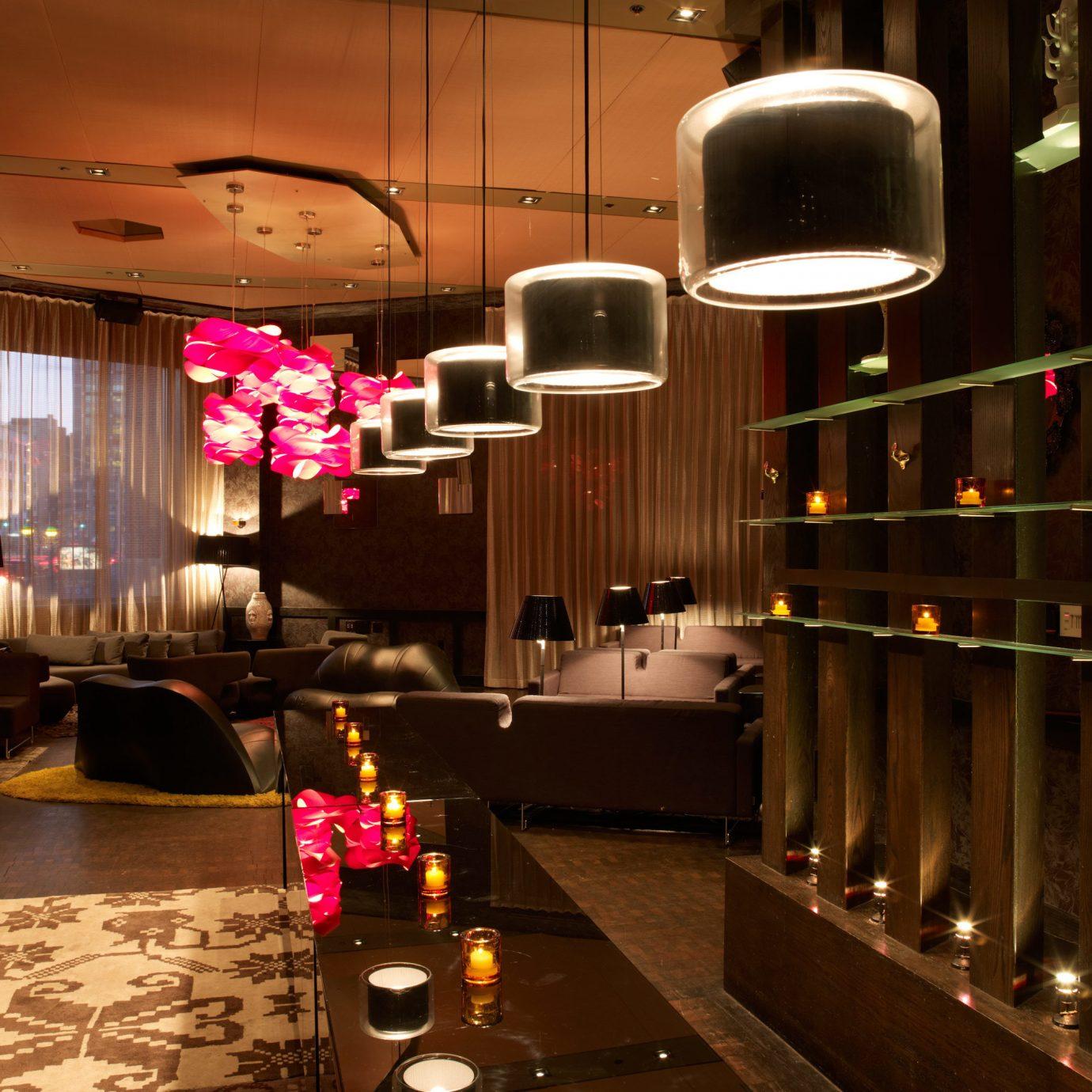 City Hip Lounge restaurant Bar lighting light Lobby