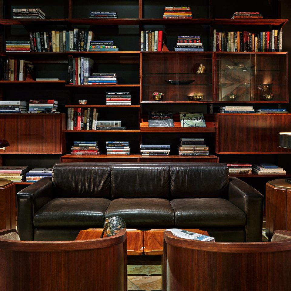 City Lounge Luxury Modern shelf book library recreation room Bar living room full set leather
